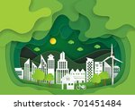 green eco cityscape abstract... | Shutterstock .eps vector #701451484
