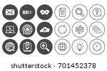 internet  seo icons. checklist  ...   Shutterstock .eps vector #701452378