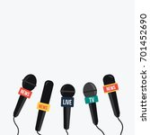 simple breaking news vector on... | Shutterstock .eps vector #701452690