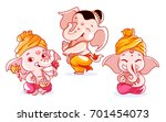 set of cute characters. a... | Shutterstock .eps vector #701454073