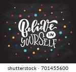 vector illustration of believe... | Shutterstock .eps vector #701455600