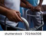 cropped hands of nurse... | Shutterstock . vector #701466508