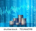 investment concept  coins graph ... | Shutterstock . vector #701466598