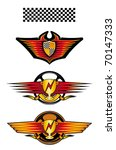 isolated racing symbols and... | Shutterstock .eps vector #70147333