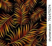 seamless tropical vector... | Shutterstock .eps vector #701475274