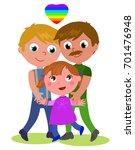 cartoon male homosexual happy... | Shutterstock .eps vector #701476948