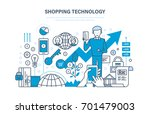 shopping technology. financial... | Shutterstock .eps vector #701479003