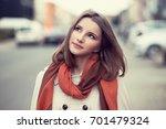 woman thinking. daydream.... | Shutterstock . vector #701479324