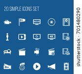 set of 20 editable cinema icons....
