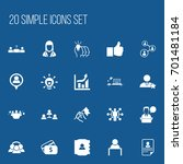 set of 20 editable trade icons. ...