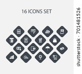 set of 16 editable investment...