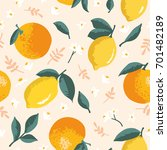 vector summer pattern with... | Shutterstock .eps vector #701482189