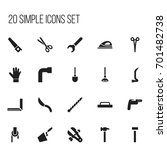 set of 20 editable tools icons. ...