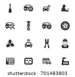 auto icons set and symbols for... | Shutterstock .eps vector #701483803