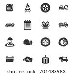 auto icons set and symbols for... | Shutterstock .eps vector #701483983