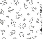 seamless pattern with baby... | Shutterstock .eps vector #701484658