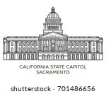 california state capitol is...   Shutterstock .eps vector #701486656