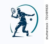 tennis player stylized vector... | Shutterstock .eps vector #701489830
