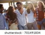 group of happy young friends... | Shutterstock . vector #701491834