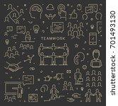 gold line creative web concept... | Shutterstock .eps vector #701493130