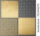 3d render lattice gold | Shutterstock . vector #701496373