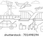 cartoon children coloring book...   Shutterstock .eps vector #701498194