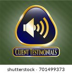 shiny badge with sound icon...   Shutterstock .eps vector #701499373