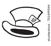 mad hatter's hat black and... | Shutterstock .eps vector #701499544