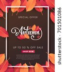 autumn sale background layout... | Shutterstock .eps vector #701501086