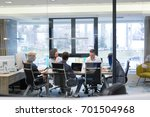 group of a young business... | Shutterstock . vector #701504968