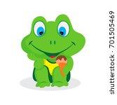 frog character vector | Shutterstock .eps vector #701505469
