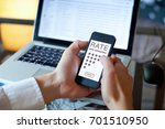 rating feedback concept  review ... | Shutterstock . vector #701510950