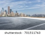 panoramic skyline and buildings ... | Shutterstock . vector #701511763