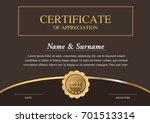 certificate template   warranty | Shutterstock .eps vector #701513314