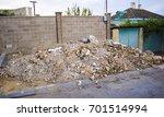 pile of construction debris... | Shutterstock . vector #701514994