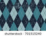 classic argyle aged seamless... | Shutterstock .eps vector #701515240