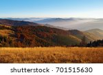view of hills of a smoky... | Shutterstock . vector #701515630
