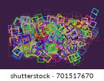 background abstract square ... | Shutterstock .eps vector #701517670