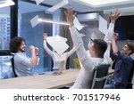 group of young business people...   Shutterstock . vector #701517946