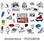 vector set of teens pictures in ... | Shutterstock .eps vector #701518018
