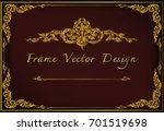 gold border invitation vector... | Shutterstock .eps vector #701519698
