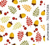 seamless autumn pattern with...   Shutterstock .eps vector #701524186