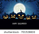 halloween creepy vector... | Shutterstock .eps vector #701528833