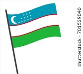 flag of uzbekistan   uzbekistan ...   Shutterstock .eps vector #701529040