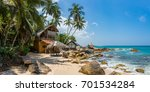 tropical bungalow with beach... | Shutterstock . vector #701534284