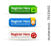 register here modern button... | Shutterstock .eps vector #70153432
