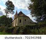 an old abandoned cemetery chapel | Shutterstock . vector #701541988