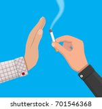 tobacco abuse concept. hand... | Shutterstock .eps vector #701546368