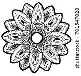 black and white flower mandala   Shutterstock . vector #701547028