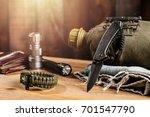 stainless steel pocketknife... | Shutterstock . vector #701547790